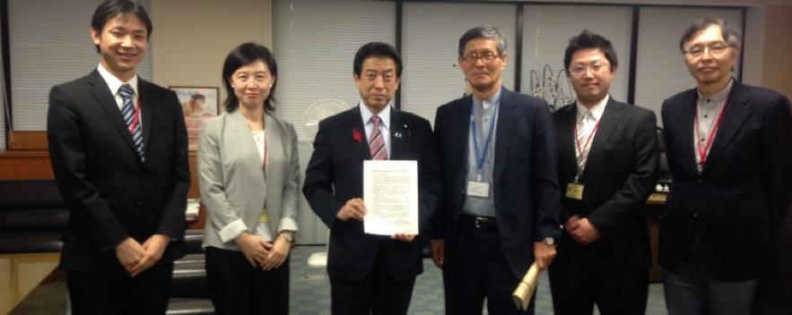 医療分科会メンバーが厚労省で塩崎大臣に面会。